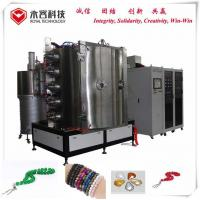 Quality Crystal Glass Vacuum Plating Machine / Glass Bracelet Decorative PVD Coating Equipment for sale