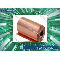 Quality High density Single Shiny Treated  RA Cu Foil For PCB , Fine Circuit FPC for sale