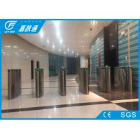 Quality High Speed Flap Barrier Coin Operated Turnstile Facial Recognition Access Control System for sale