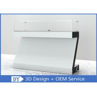Buy White Coating MDF Jewelry Showcase Display with Wooden + Glass + Lights + at wholesale prices