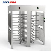 China Hotel Access Control Double Lane Full Height Turnstile With IC ID Card Reader turnstile barrier gate on sale