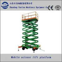 Buy Stainless Steel four wheels mobile scissor lift table at wholesale prices