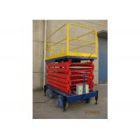 Quality Manual Mobile Aerial Work Platform Steel Material Hydraulic Platform Lift for sale