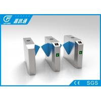 Fingerprinted High Speed Flap Barrier Turnstile For School Access Control