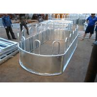 Quality Six Bars Heavy Duty Metal Oval Rai Portable Corral Panels For Cattle for sale