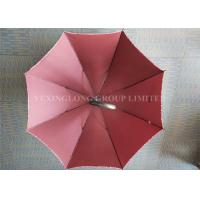Quality Fiberglass 8 Ribs Promotional Gifts Umbrellas Red Strong Sturdy Rain Umbrellas for sale