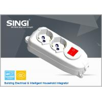 Buy Europe Power strips with flat plugs safety converter , Extension Cord Socket With Switch at wholesale prices