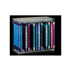 Quality pink acrylic cd dvd rack/showy beauty display rack/small beautiful pink cd rack for sale