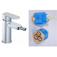 Ceramic Single Hole Bathroom Sink Faucet , Single Handle Brass Bidet Taps