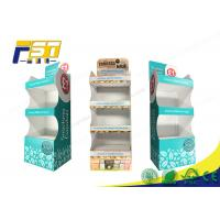 Quality POP Printing Cardboard Floor Displays 4 Shelves Customized Logo For Retail Promotion for sale