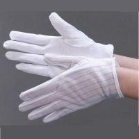 Quality Non Slip Striped Dotted 0.1s Static Decay ESD Gloves for sale