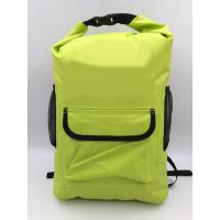 Quality 20L Yellow 500D PVC Outdoor Products Waterproof Backpack OEM / ODM Available for sale