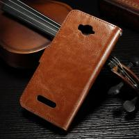 China Magnetic Alcatel Leather Case For Pop C7 , Side - Open  Pu Leather Wallet Case 62.7g on sale