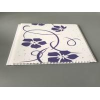 Quality Customized Purple Flower Pvc Decorative Panels Transfer Printing Fireproof for sale