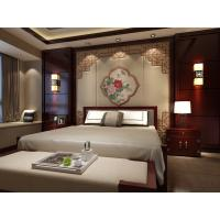Quality Waterproof Bamboo Fiber 3D Leather Wall Panels Peony Imitation Leather Style for sale