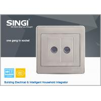 Quality load break switch champagne 2Gang TV wallswitchesand sockets for sale