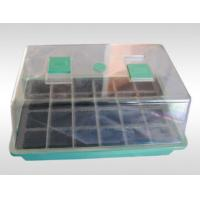 Quality PP / PS Garden Mini Greenhouse Plastic Seeds Propagation Nursery Pots with Breeding Tray for Kits for sale