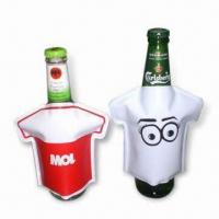 Quality Bottle Coolers in T-shirt Design, Made of PVC, Non-toxic, Portable, Reusable and Easy to Use for sale