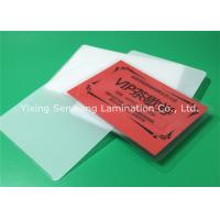 Quality Round Corner Hot Lamination Film , Moisture Proof Laminating Sleeves Pouches for sale