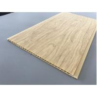 Buy 7.5mm Thick Corrosion Resistant PVC Wood Panels for Ceiling / Wall Cladding at wholesale prices