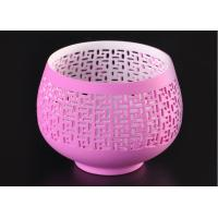 Quality pink hollow ceramic porcelain candle holders wholesale candlestick holders for sale