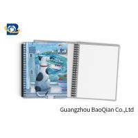 Quality Durable Custom Printed Notebooks , A4/A5/A6 3D Lenticular Cover CMYK Offset Printing for sale