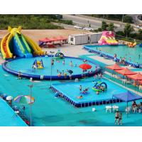 China Multiple Inflatable Water Park Obstacle Course Sea Floating Amusement Park For Party on sale