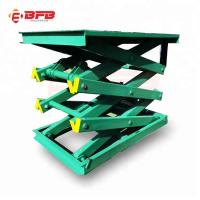 Buy cheap Parking system Stationary Scissor lift table with 1000kg from wholesalers