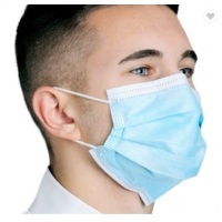 Quality Disposable Face Mask Blue Color With Earloop And Three Layer Protective Mask,Disposable Nonwoven Face Mask With 3 Ply for sale