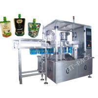 Buy cheap Jam / Sauce / Milk Liquid Pouch Packing Machine With Injector , Stainless Steel Material from wholesalers