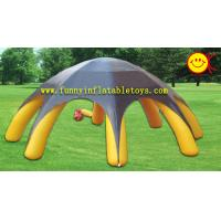 Yellow 8 Spiders Durable 180OZ PVC Tarpaulin Inflatable Advertising Tent EN14960