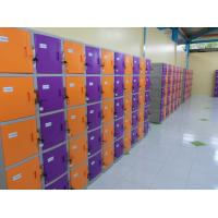Quality ABS / Metal Coin Operated Lockers Anti UV Aging Commercial Gym Lockers for sale