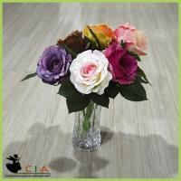 China Real Touch Wholesell Artificial Rose Bloom Fabric Petals for Wedding Flower Bouquet on sale