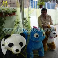Quality Hansel China Plush Motorized Animals Stuffed Zippy Rides Electric Animal Scooters for sale for sale