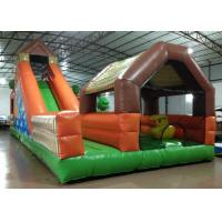 China Large Children / Adult Inflatable Fun City 12 X 5 X 5.25m Fire Resistance Customized on sale