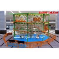Buy cheap Plastic Wood Adventure Playground Equipment For Gardens Children Trainning from wholesalers