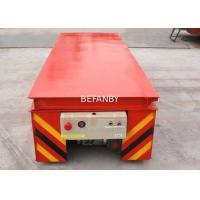China Dumping Platform Industrial Material Carts , Simple Structure Lifting Table Trolley on sale