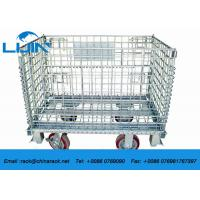 Buy cheap Foldable Rust - Protection Wire Mesh Cages / Wire Mesh Container With Wheels from wholesalers