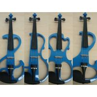 Quality Customized Blue Solid Wood Full Size Student Violin With Case / Bow AGV-EI for sale