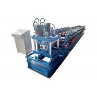 China Metal C U Purlin Roll Forming Machine Drive Mode Chain And Sprocket Sidewall 16mm on sale