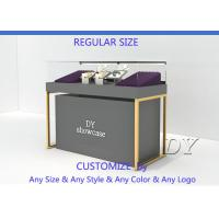 Buy Wood Base Gray Lacquer Jewelry Store Display Case MOQ Is Only 5 Pcs at wholesale prices