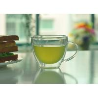 Quality Double Walled Glass Tea Cups With Handle Heat Resistant Borosilicate Glass for sale