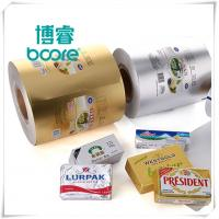 China Embossed  Printing Wrapping Aluminum Foil Laminated Butter Paper on sale
