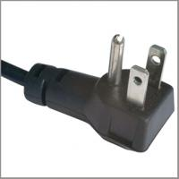 Quality North American power cord with UL Nema 5-15p angled plug for sale