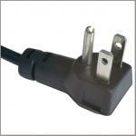 Quality North American power cord with UL Nema 5-15p angled plug for sale