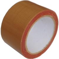 Quality Chocolate Brown Cloth Duct Tape Oil Resistant Hot Melt Adhesive For Carpet Joint for sale