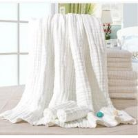 Quality 10 layer medical washable gauze bath towel baby blanket without fluorescent agent 110x115cm for sale