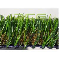 Quality Heavy Dtex Durable Synthetic Turf Grass For Roof With Green And Brown Color for sale