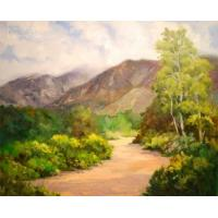 Quality landscape painting lake painting art picture for sale
