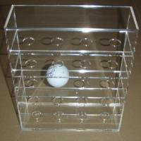 China Acrylic Clear Golf Ball Display Case Counter top Plexiglass Ball Holder  Riser on sale